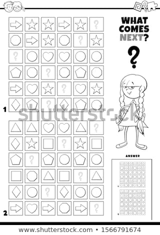 fill the pattern educational task for children Stock photo © izakowski