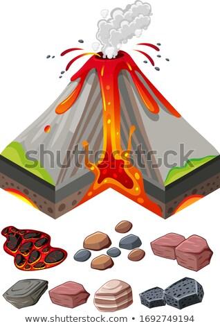 Különböző kövek vulkán földgömb terv világ Stock fotó © bluering