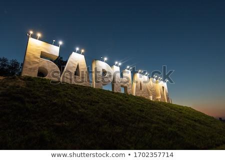 Sibéria Rússia panorâmico quadro estrada carros Foto stock © olira