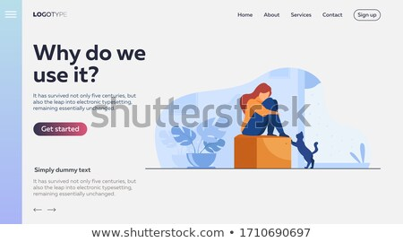 Anxiety concept landing page Stock photo © RAStudio