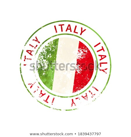 Olaszország felirat klasszikus grunge lenyomat zászló Stock fotó © evgeny89
