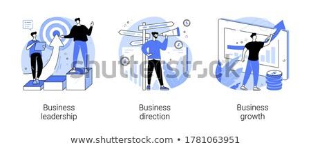 Karrier beállítások ikon vektor skicc illusztráció Stock fotó © pikepicture