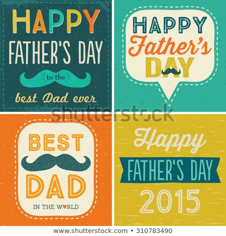 happy fathers day best dad ever yellow background Stock photo © SArts