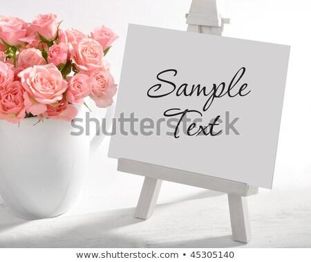 Quadro de avisos flor-de-rosa escritório grama rosa quadro Foto stock © Ansonstock