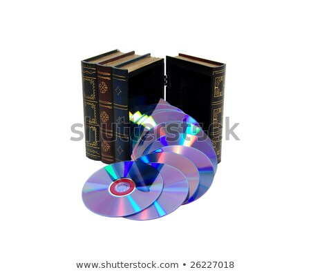 Book with DVDs Stock photo © pterwort