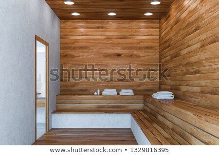 сауна · интерьер · древесины · лампы - Сток-фото © mikko