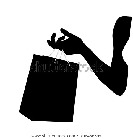 3d illustration of hand holding colorful shopping bags  Stock photo © dacasdo