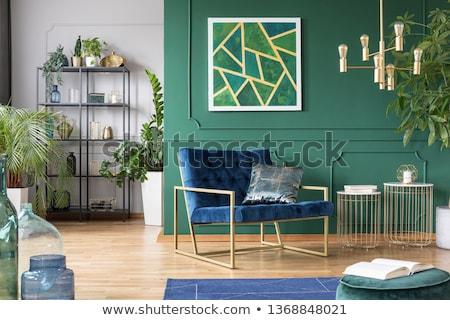 Interieur groene kleur achtergrond ruimte weefsel Stockfoto © Raduntsev