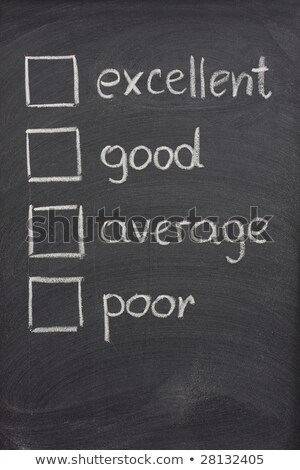 Customer survey or poll with check boxes on blackboard Stock photo © bbbar
