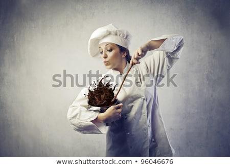 Stock fotó: Vicces · fiatal · szakács · edény · étel · vacsora