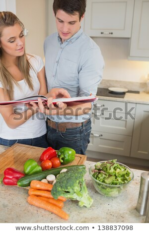 couple reading a cookbook stock photo © photography33