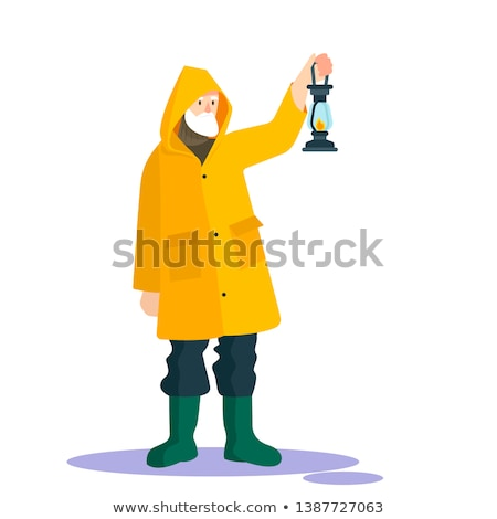 Character with yellow coating Stock photo © photography33