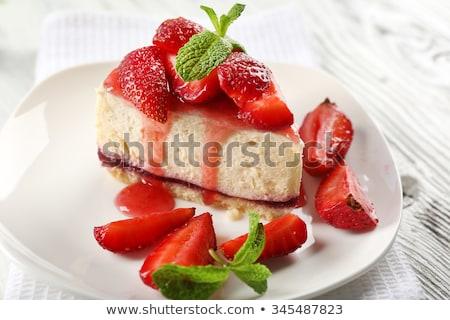 morango · torta · creme · comida · fundo · bolo - foto stock © stephaniefrey