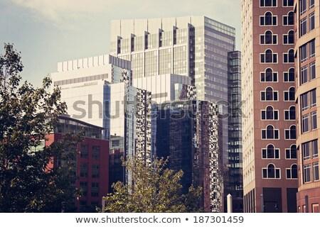 Moderne centrum Boston Massachusetts venster Stockfoto © benkrut