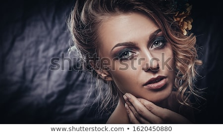 glamour portrait of beautiful woman model with evening makeup a stock photo © victoria_andreas