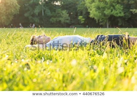 Man lying in a field Stock photo © photography33