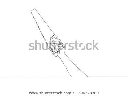 carpenter holding a saw stock photo © photography33