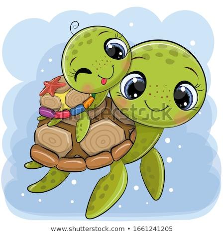 отцом сына черепаха рот мальчика голову отец Сток-фото © photography33
