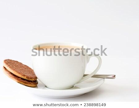 Stok fotoğraf: çay · fincanı · bisküvi · gıda · kahvaltı · fincan · kırmak