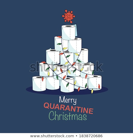 vector paper christmas tree stock photo © orson
