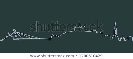Bratysława panoramę panorama wygaśnięcia Słowacja domu Zdjęcia stock © joyr