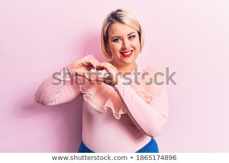 csinos · fiatal · nő · fürdőruha · rág · buborék · íny - stock fotó © acidgrey