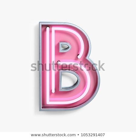 130e93bbbd The letter B from neon light. stock photo © Deyan Georgiev ...