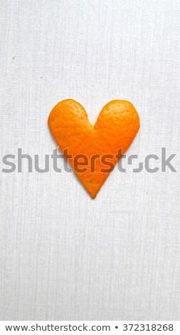 Hearts from the peel of citrus Stock photo © Kotenko
