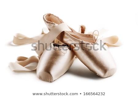 kahverengi · ayakkabı · yalıtılmış · beyaz · kız · arka · plan - stok fotoğraf © gsermek