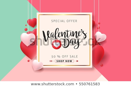 valentine special red heart banner stock photo © marinini