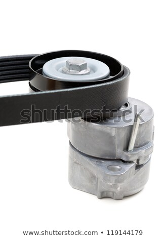 Generator belt tensioner pulley with Poly-V belt Stock photo © RuslanOmega