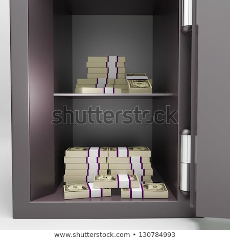 Open Safe With Money Shows Investment Funds Stock photo © stuartmiles