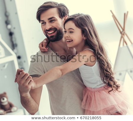 Little girl with her father stock photo © joseph73