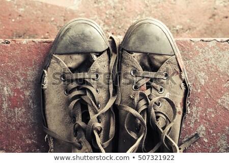 közelkép · fotó · cipő · férfi · fény · háttér - stock fotó © lizard