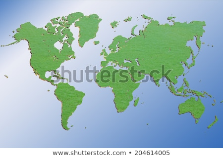 Dimensional Green 3D Wold Map Stock photo © Lightsource