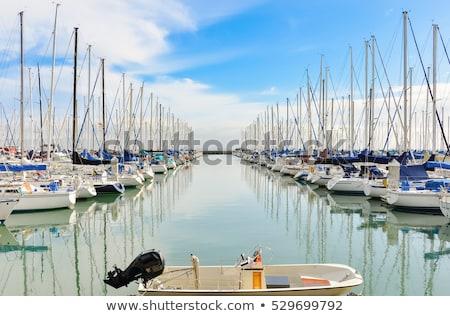 роскошь · паруса · лодках · закат · красивой · оранжевый - Сток-фото © meinzahn