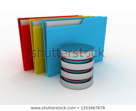 ilustração · 3d · arquivos · computador · dobrador · projeto - foto stock © kolobsek