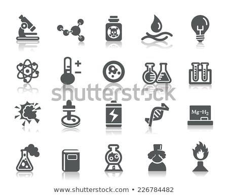 ícones perigoso química projeto pintar assinar Foto stock © ildogesto