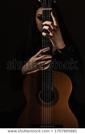 Klasszikus gitáros alacsony kulcs kép tér Stock fotó © ABBPhoto