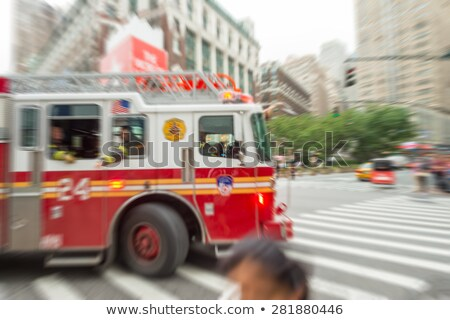 moving fire engine stock photo © arenacreative