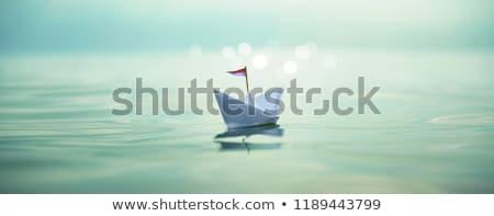 papel · barco · ilustración · ninos · toma · viaje - foto stock © zzve