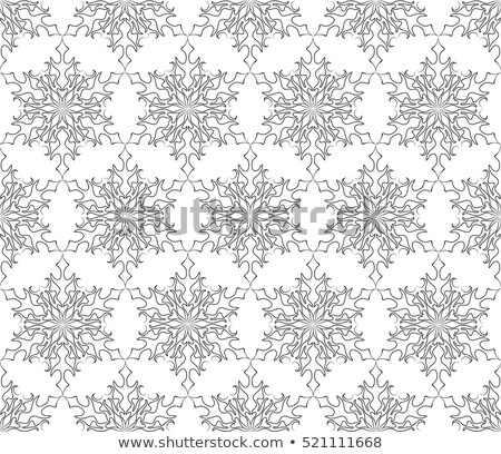 Vector Seamless Lacy Winter Pattern with Snowflakes Stock photo © alexmakarova
