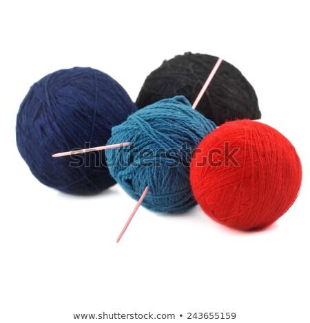 woollen threads and spokes lie on  table  Stock photo © taden