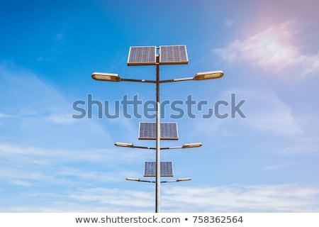 Solar powered street lights Stock photo © mikdam