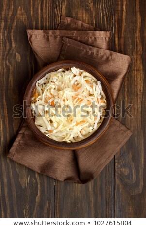 Plaka lâhana turşusu restoran akşam yemeği et patates Stok fotoğraf © M-studio