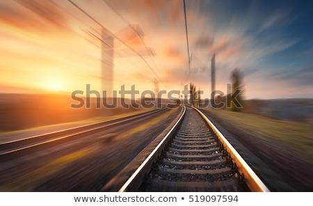 ferrovia · cascalho · trem · futuro · aço · maneira - foto stock © smuki