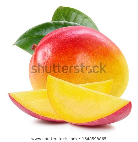 マンゴー フルーツ 孤立した 白 工場 ストックフォト © serpla