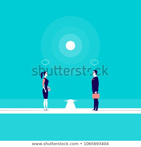 business team in front of a direction sign business concept stock photo © kirill_m