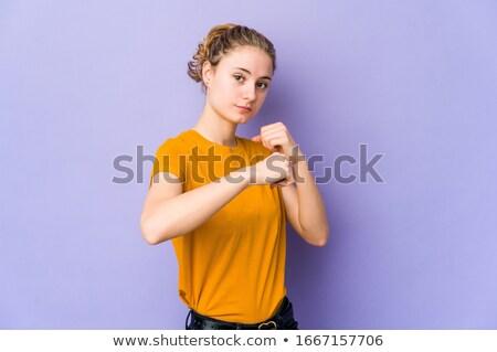 Albino boxeador fitness músculo jovem Foto stock © songbird