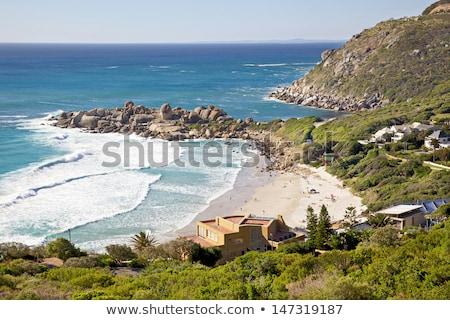 Tengerpart Fokváros külváros Dél-Afrika víz tájkép Stock fotó © dirkr
